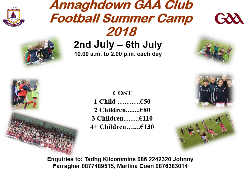 annaghdown gaa summer camp 2018